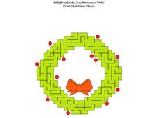 Christmas Maze Worksheet
