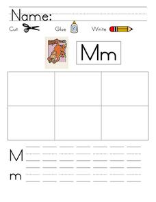 Kelly's Kindergarten: M Words Worksheet