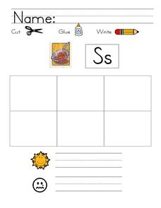 Kelly's Kindergarten: S Writing Page Worksheet