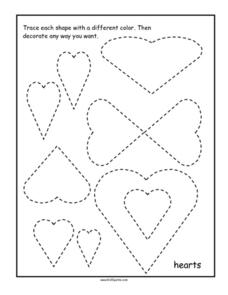 Hearts Tracing Worksheet
