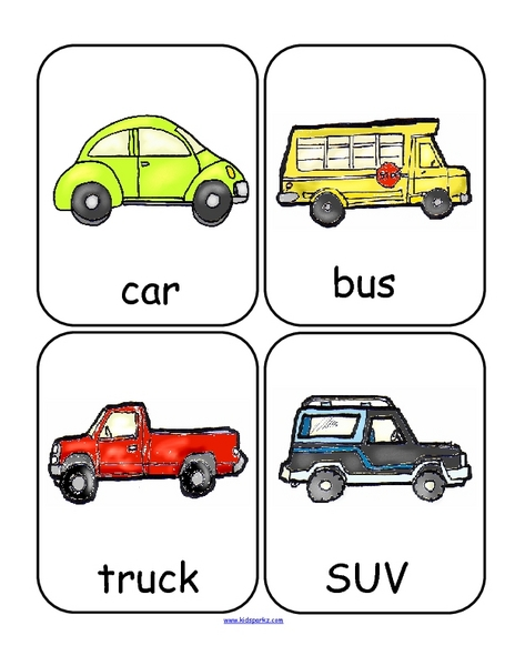 Transportation Word Wall Lesson Plan
