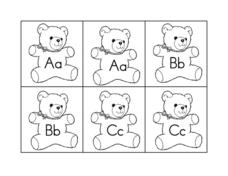 Teddy Bear Alphabet Cards Worksheet