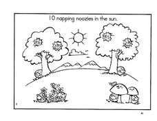 10 Napping Noozies in the Sun Worksheet