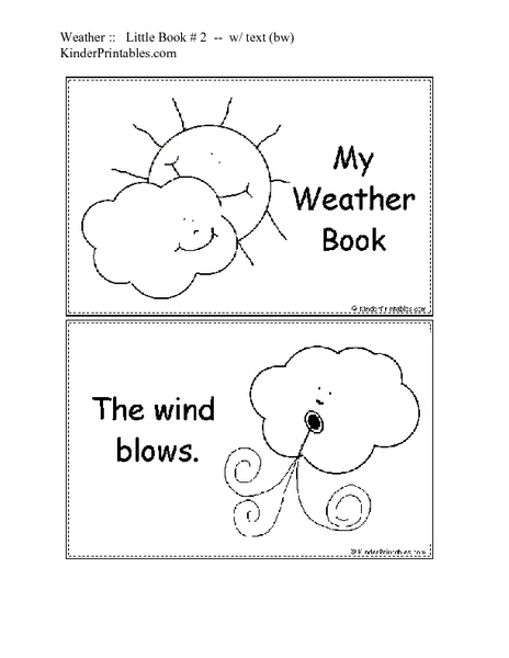 my weather book worksheet for kindergarten lesson planet. Black Bedroom Furniture Sets. Home Design Ideas