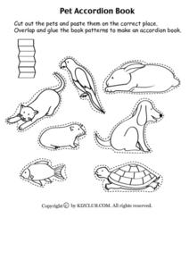 Pet Accordion Book Worksheet