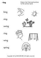 The -ing Sound Worksheet