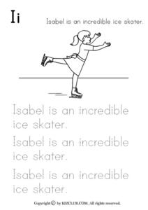Isabel is an Incredible Ice Skater Worksheet