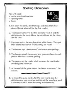 Spelling Showdown Lesson Plan