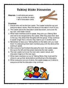 Talking Sticks Discussion Lesson Plan