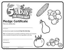 Pledge Certificate Lesson Plan