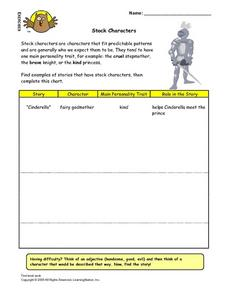 Stock Characters Lesson Plan