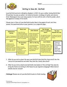 Getting to Know Mr. Garfield Lesson Plan