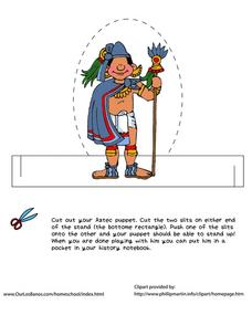 Aztec Puppet Worksheet