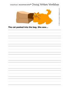 Story Starter-- The Cat And the Bag Worksheet