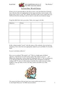 Lesson One: Word Choice Lesson Plan