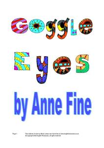 Goggle Eyes Worksheet