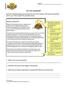 Are You Convinced? Lesson Plan
