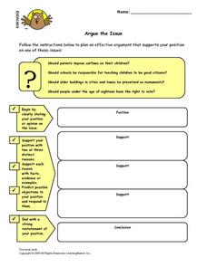 Argue the Issue Lesson Plan