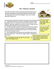 Tell a Humorous Anecdote Lesson Plan