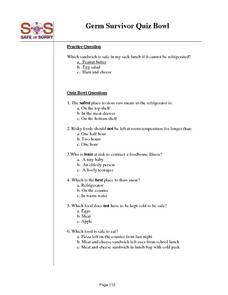 germ survivor quiz bowl worksheet for 6th 8th grade lesson planet. Black Bedroom Furniture Sets. Home Design Ideas