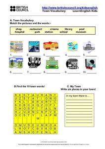 Places in a Town Or City Lesson Plan