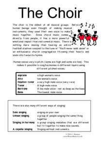 The Choir Worksheet