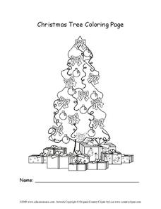 Christmas Tree Coloring Page Lesson Plan