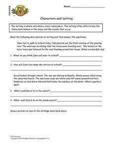 Characters And Setting Lesson Plan