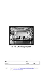 To Kill a Mockingbird Test Study Guide