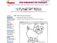 Piglet Drawing Worksheet
