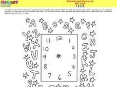ABC Clock Worksheet
