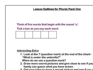 "The Letter ""U"" Worksheet"