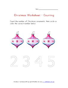 Christmas Worksheet - Counting Worksheet