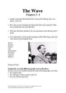 The Wave Chapters 1-4 Lesson Plan