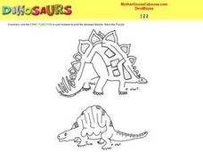 Dinosaur Mazes Worksheet