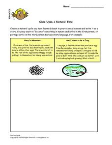 Once Upon a Natural Time Lesson Plan