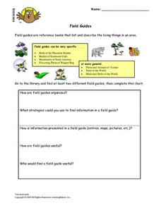 Field Guides Lesson Plan