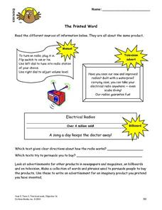 The Printed Word Lesson Plan