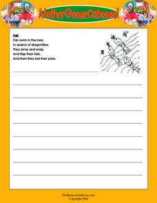 Animal Poetry -- Printing Practice Worksheet