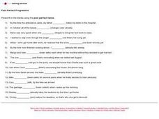 Past Perfect Tense Lesson Plan