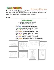 Dinosaur Poem Worksheet