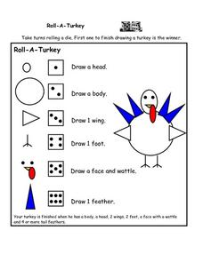 Roll-a - Turkey Worksheet