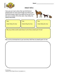 Animal Antics: Point of View Lesson Plan
