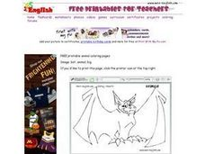 Animals - Bat Worksheet