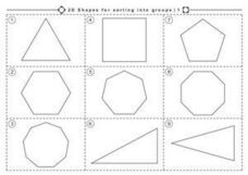 2D Shapes for sorting into groups Worksheet
