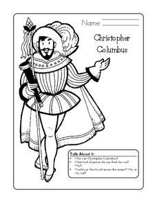 Christopher Columbus Worksheet