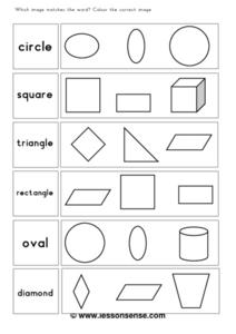 Word/Picture Associations Worksheet