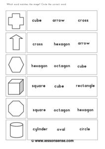 Which Word Matches the Image? #2 Worksheet