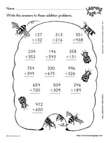 Three-digit Addition Lesson Plan