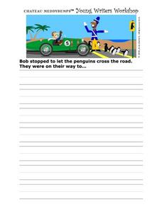 Story Starter-- Penguin Crossing Worksheet